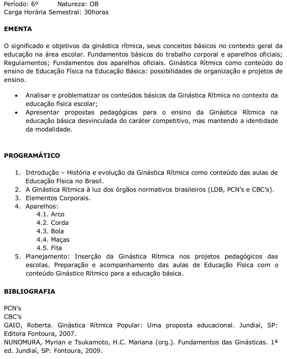 25558ad987 Ensino de Ginástica Rítmica - ESP073